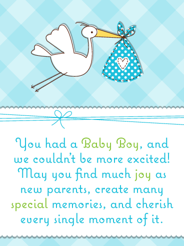 Special Memories – Baby Boy Card