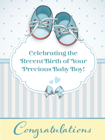 Tiny Shoes – Baby Boy Card