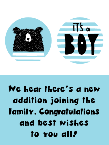 Little Bear- it's a Boy Card