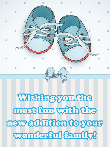 Little Baby Shoes- It's a Boy Card