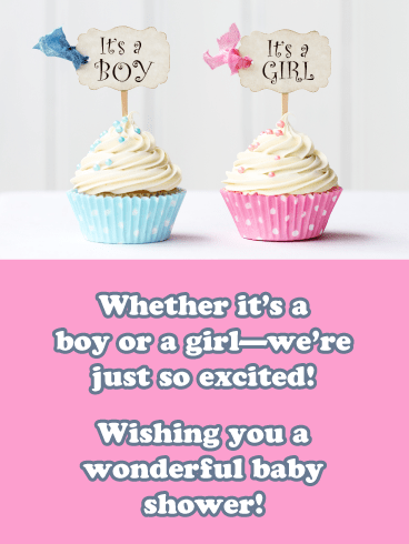Boy or Girl- Happy Baby Shower Card