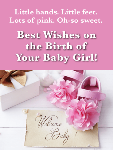 Pink Shoes-Baby Card