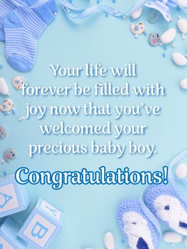 Forever Filled with Joy-Baby Card
