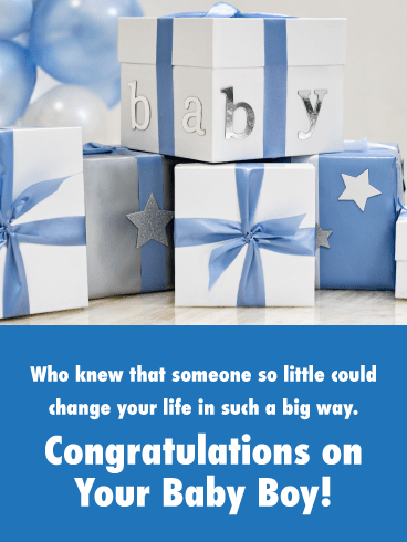 Filled with Gift Boxes-Baby card