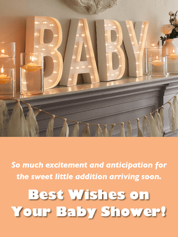 Elegant Baby Shower-Baby card