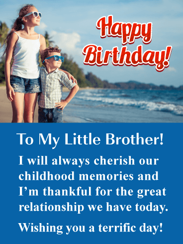 Birthday Cards For Little Brother Birthday Greeting Cards By