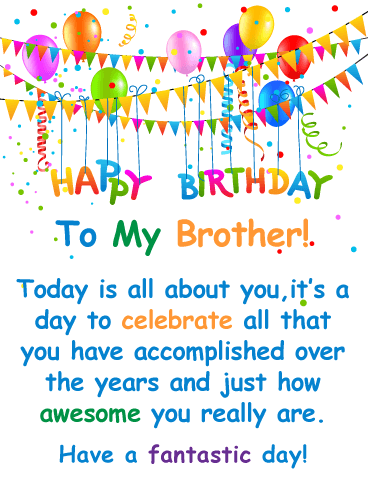 You're Awesome! - Happy Birthday Card for Brother
