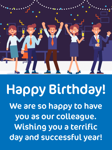 A Successful Year - Happy Birthday Card for Colleague
