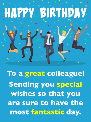 A Special Day - Happy Birthday Card for Colleague