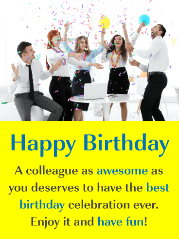 You're Awesome! - Happy Birthday Card for Colleague