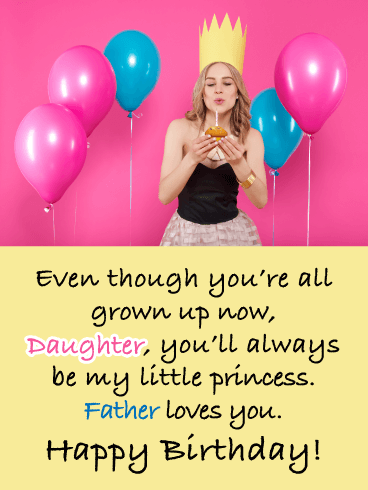 Forever My Little Princess- Happy Birthday Daughter from Father