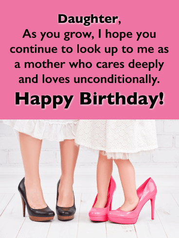 I Love You Unconditionally - Happy Birthday Cards for Daughter From Mother
