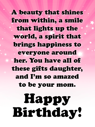 You Bring Lots of Happiness - Happy Birthday Cards for Daughter From Mother