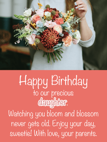 Bloom & Blossom- Happy Birthday Card for Daughter from Parents