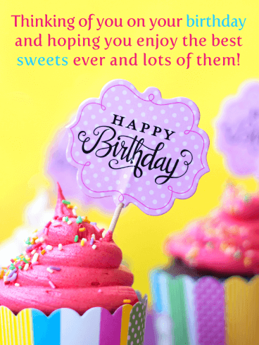Awesome Cupcakes - Happy Birthday Card for Everyone