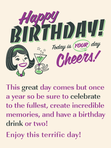 Cheers to You! - Happy Birthday Card for Everyone