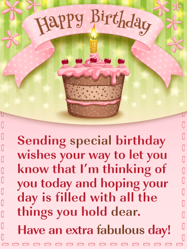 A Special Cake - Happy Birthday Card for Everyone