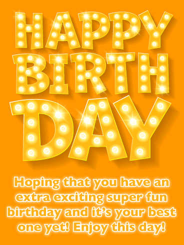 Super Fun Day - Happy Birthday Card for Everyone