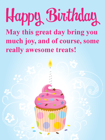 Celebration Cupcake - Happy Birthday Card for Everyone