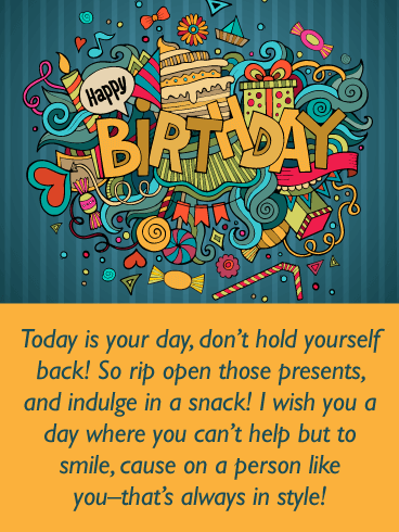 Cute Doodles - Happy Birthday Wishes Card for Everyone