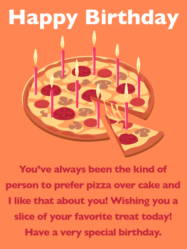Slice of Pizza - Happy Birthday Wishes Card for Everyone