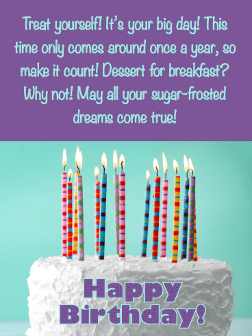 Dessert for Breakfast - Happy Birthday Wishes Card for Everyone