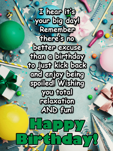 Take It Easy- Happy Birthday Wishes Card for Everyone