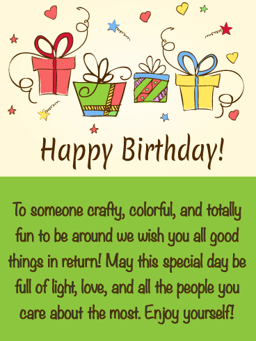 Precious Presents - Happy Birthday Wishes Card for Everyone