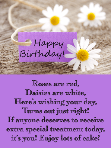 Sweet Daisies - Happy Birthday Wishes Card for Everyone