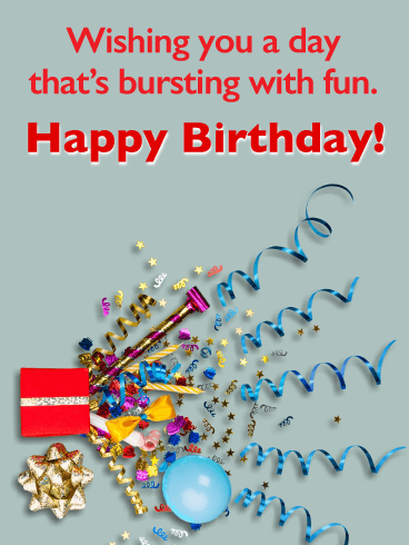 Party Spirit - Happy Birthday Wishes Card for Everyone