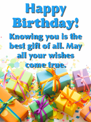 The Best Gift of All - Happy Birthday Wishes Card for Everyone