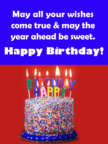 """Happy Birthday"" Candles - Happy Birthday Wishes Card for Everyone"