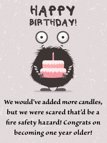 Silly Monster - Funny Happy Birthday Card for Everyone