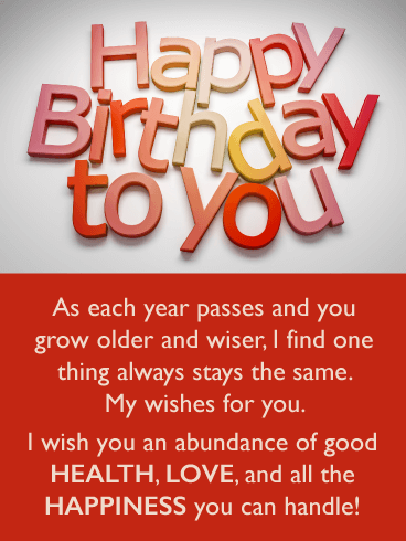 New Year, Same Wish - Happy Birthday Wishes Card for Everyone