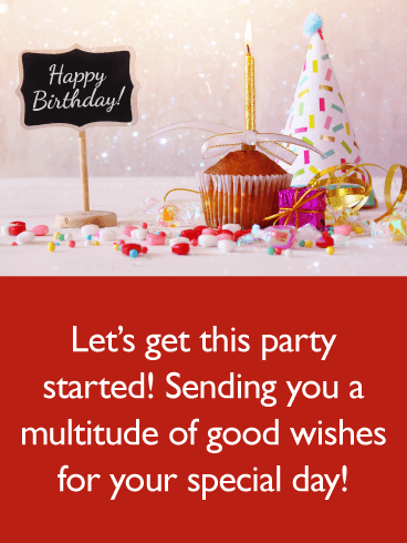 Good wishes - Happy Birthday Card for Everyone