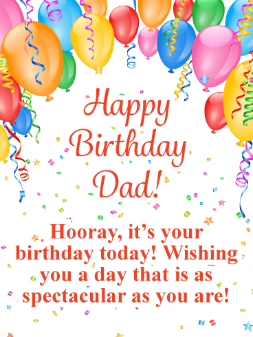 Spectacular Balloons - Happy Birthday Card for Father