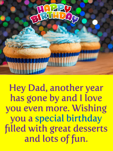Great Desserts - Happy Birthday Card for Father