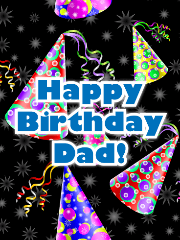 Festive Party Hats - Happy Birthday Card for Father