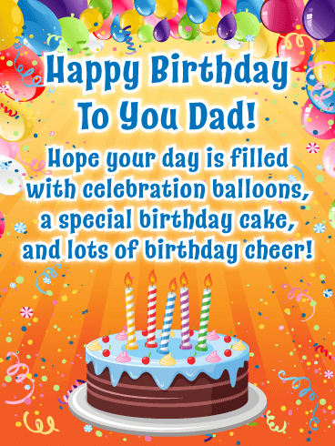 Your Day to Shine! Happy Birthday Card for Father