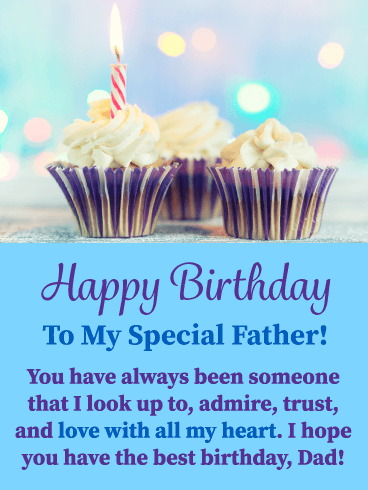 Celebration Cupcakes - Happy Birthday Card for Father