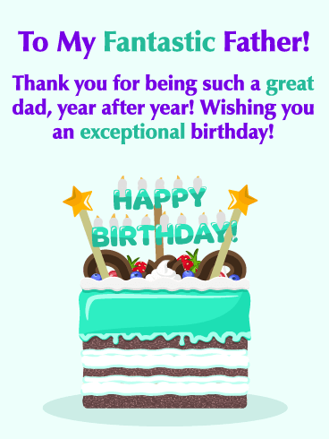 You're Fantastic! Happy Birthday Card for Father