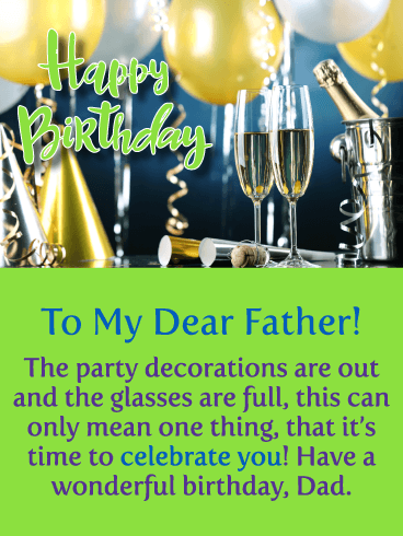 Celebrating You! Happy Birthday Card for Father