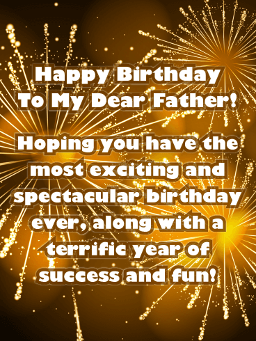 Terrific Year! Happy Birthday Card for Father