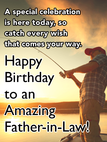 Catch Every Wish Happy Birthday Card For Father In Law Birthday