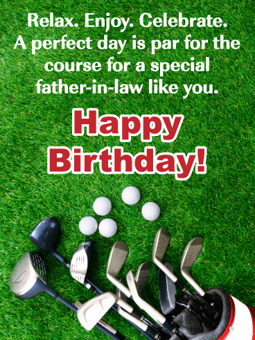 Par for the Course - Happy Birthday Card for Father-in-Law