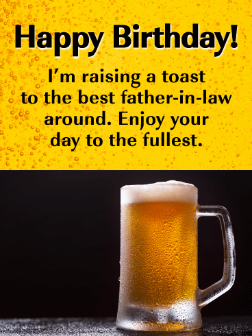 Enjoy Your Day to the Fullest - Happy Birthday Card for Father-in-Law