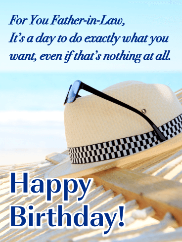 It's a Day for You - Happy Birthday Card for Father-in-Law