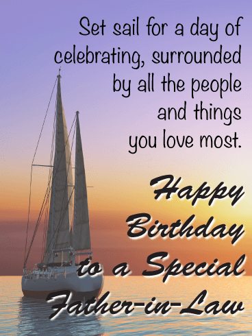 Set Sail for a Day - Happy Birthday Card for Father-in-Law