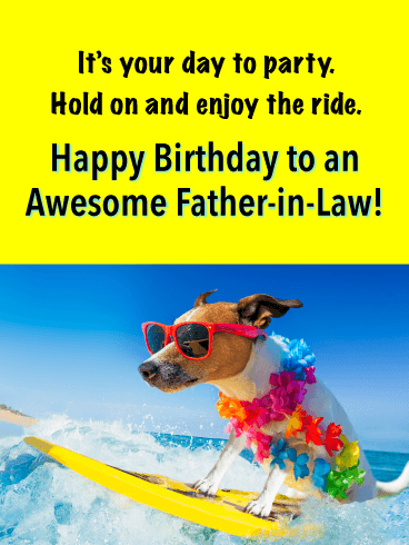 Enjoy the Ride - Happy Birthday Card for Father-in-Law