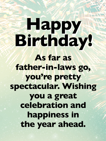 Bright Bursts- Happy Birthday Card for Father-in-Law